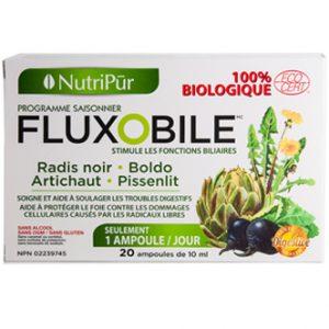 Fluxobile - Nutripur - Cure 100% Biologique qui nettoie le foie et qui aide à rétablir une meilleure digestion en stimulant les fonctions biliaires.