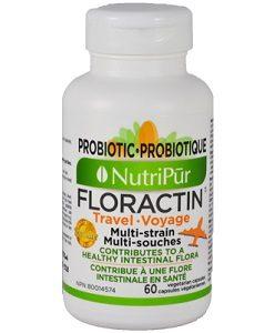 Floractin Viajero - Nutripur - Fórmula de probióticos que rápidamente restaura y mantiene una flora intestinal saludable, así como también protege el sistema inmunológico de su familia durante todo el año!