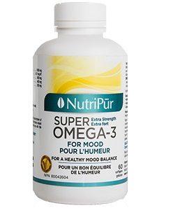 Super Omega 3 Humeur - Nutripur - Formule unique, exceptionnellement riche en EPA et DHA, reconnue pour améliorer l'humeur et diminuer l'irritabilité