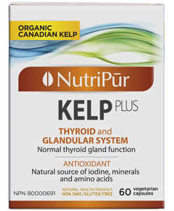 Kelp Plus - Nutripur - helps in the normal function of the thyroid gland.