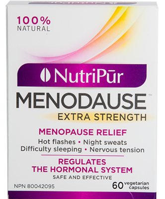 Menodause Extra Strength - Nutripur - Formulated with essential and natural nutrients, Menodause helps woman relieve the symptoms of menopause and the inconveniences of pre-menopause.