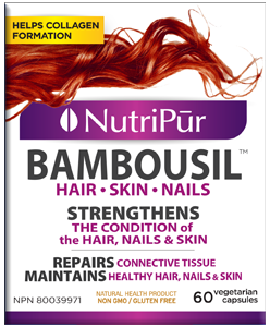 Bambousil - Hair, skin nails - hair loss - thinning hair - thick hair - strong nails - brittle nails - strong bones - silicon - biotin - collagen -building collagen - vegetarian hair formula - vegetarian collagen