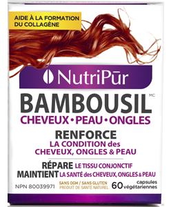 BambouSil Cheveux-Peau-Ongles. Aide à la formation du collagène. Renforce les cheveux, les ongles et les os. donne souplesse et beauté à la peau.