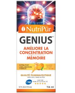 Genius Adultes Liquide – Nutripur –  Une formule puissante qui améliore la concentration, la mémoire et la fonction mentale générale. Aide à gérer l'attention et l'hyperactivité chez les adultes atteints de TDA/TDAH.