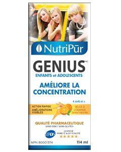Genius Enfants-Ados Liquide - Nutripur - Formule la plus efficace pour améliorer la concentration, la mémoire et les fonctions mentale générale des enfants et des adolescents. Aide à gérer l'attention et l'hyperactivité chez les enfants atteints d'TDA / TDAH