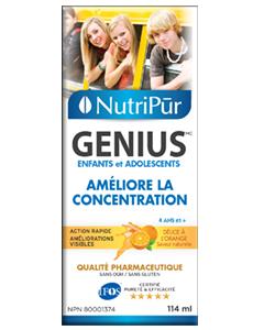 Genius Enfants-Ados Liquide – Nutripur – Formule la plus efficace pour améliorer la concentration, la mémoire et les fonctions mentale générale des enfants et des adolescents. Aide à gérer l'attention et l'hyperactivité chez les enfants atteints d'TDA / TDAH