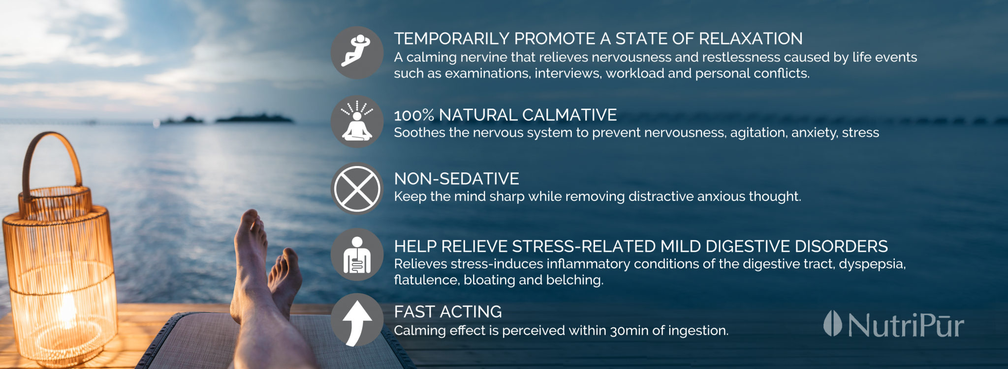 Nutripur - Relax LT - calmative, stress, anxiety, fast-acting