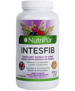 IntesFib Powder Wild Berry Flavour - Nutripur - pure psyllium fiber is helps to relieve constipation and lower cholesterol levels.