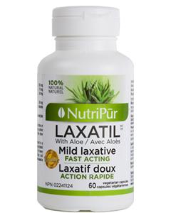 Laxatil – Nutripur – Herbes médicinales traditionnelles qui soulagent en douceur la constipation occasionnelle.