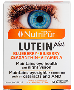 Lutein plus - Nutripur - to maintain healthy vision and counter the effects of macular degeneration and cataracts.