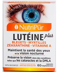 Lutéine Plus - pour maintenir une saine vision et contrer les effets de la dégénérescence maculaire et de la cataracte.