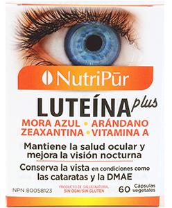 Luteína Plus - Nutripur - para mantener una visión saludable y contrarrestar los efectos de la degeneración macular y cataratas.