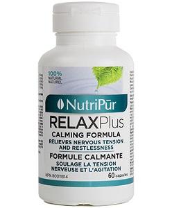 Relax Plus - Nutripur - Cette combinaison synergique de plantes réduit l'anxiété et le stress en calmant naturellement les système nerveux hyperactif.