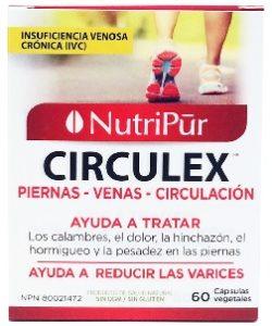 Circulex-Nutripur - corrige y mejora multiples problemas circulatorios como venas varicosas, piernas dolorosas, insuficiencia venosa crónica (IVC)