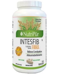 Intesfib Cápsulas - Nutripur-Proporciona un alivio suave al estreñimiento ocasional e hinchazón.