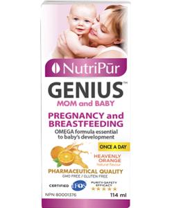 Genius Mamá & Bebe - Nutripur - Prenatal y postnatal fórmula para el embarazo y la lactancia. Ayuda en el desarrollo del cerebro del recién nacido y la salud de la madre lactante.
