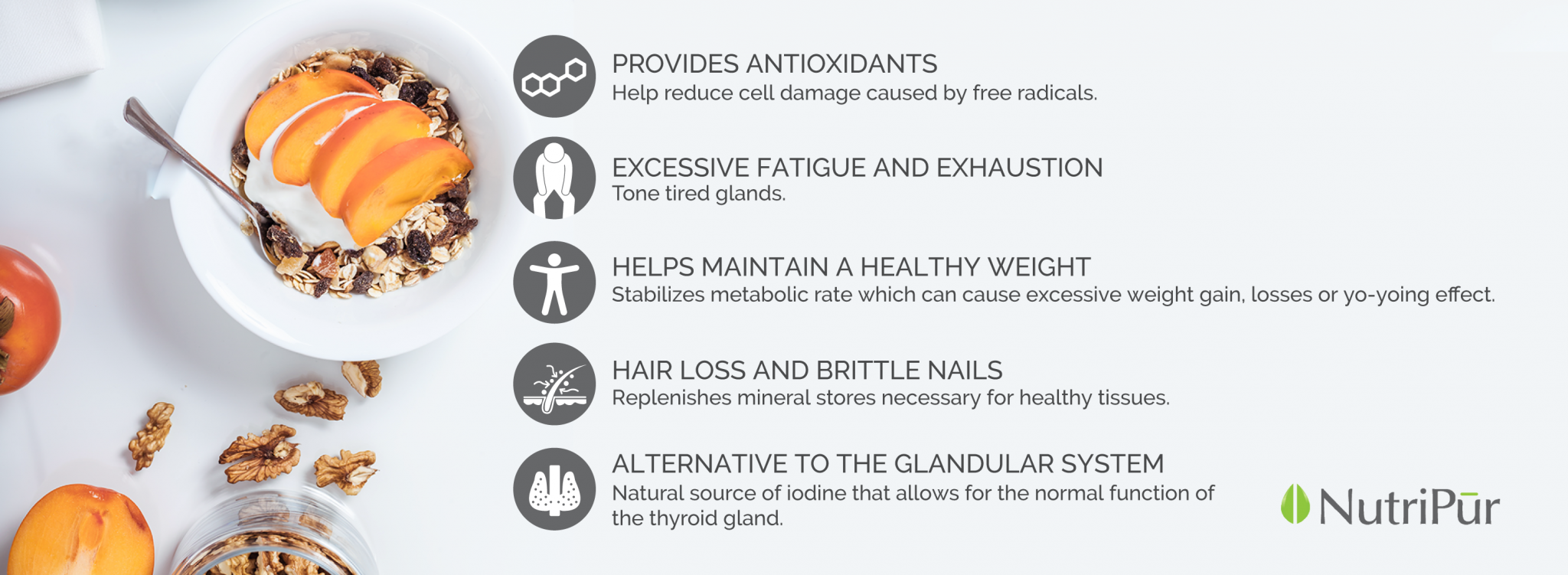 Kelp Plus - Nutripur - energy, immunity, antioxidant, hair loss, brittle nails
