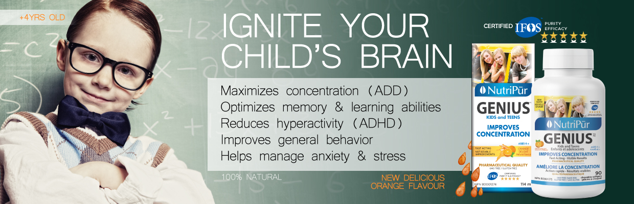 Genius Kids by Nutripur - concentration, memory, anxiety